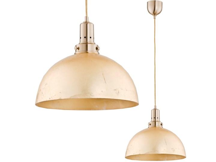 Lampa wisząca nad blat Sharon złota  śr. 30cm Metal Lampa z kloszem Kolor Złoty Styl Industrialny