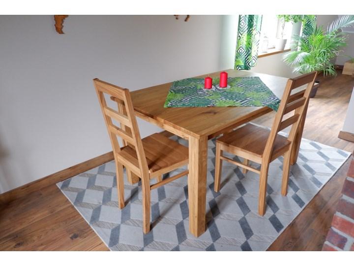 Stół dębowy Natur 180 + 2x40cm Soolido Meble Szerokość 80 cm Długość 180 cm  Szerokość 90 cm Drewno Styl Nowoczesny