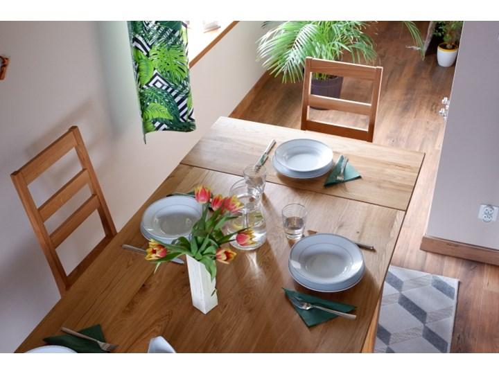 Stół dębowy Natur 180 + 2x40cm Soolido Meble Pomieszczenie Stoły do jadalni Szerokość 90 cm Szerokość 80 cm Długość 180 cm  Drewno Kolor Brązowy