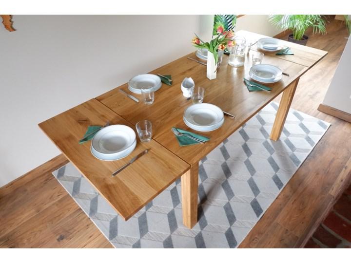 Stół dębowy Natur 180 + 2x40cm Soolido Meble Kolor Brązowy Drewno Szerokość 90 cm Długość 180 cm  Szerokość 80 cm Pomieszczenie Stoły do salonu