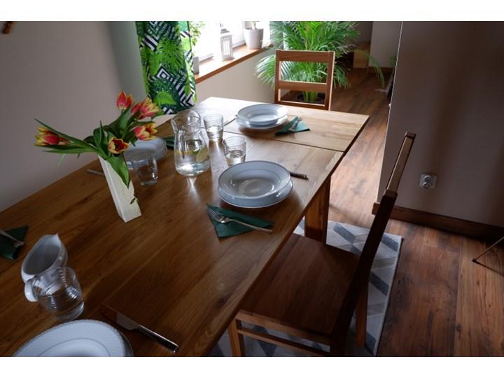 Stół dębowy Natur 180 + 2x40cm Soolido Meble Szerokość 80 cm Szerokość 90 cm Drewno Długość 180 cm  Rozkładanie Rozkładane