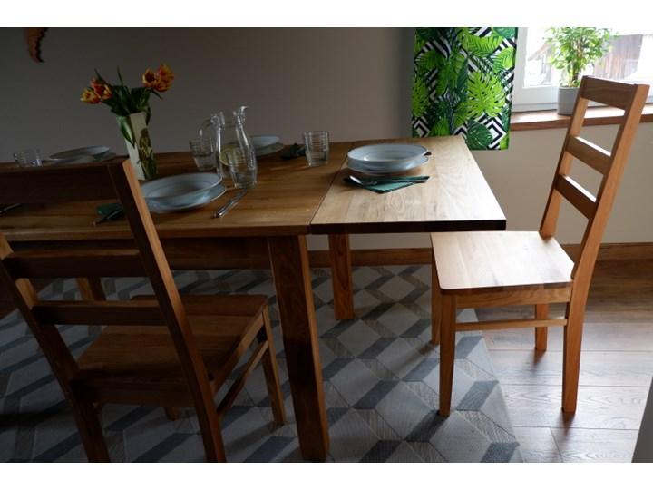 Stół dębowy Natur 160 + 2x40cm Soolido Meble Szerokość 90 cm Drewno Długość 160 cm  Kształt blatu Prostokątny Kolor Brązowy