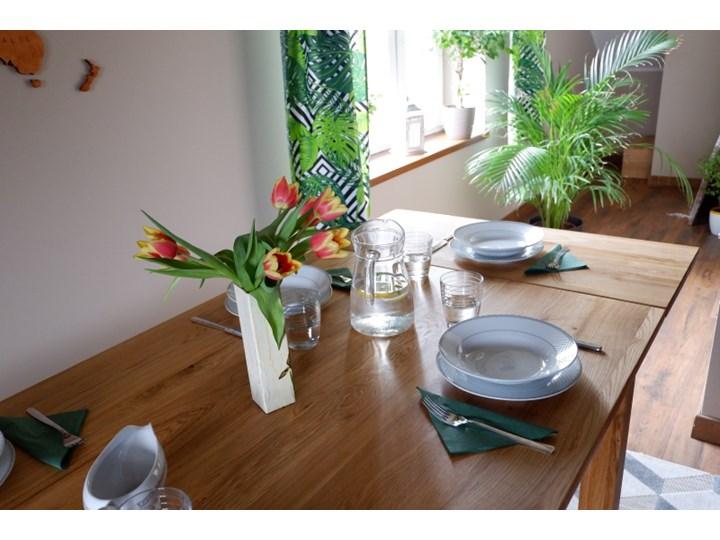 Stół dębowy Natur 160 + 2x40cm Soolido Meble Długość 160 cm  Drewno Szerokość 90 cm Pomieszczenie Stoły do kuchni Kolor Brązowy