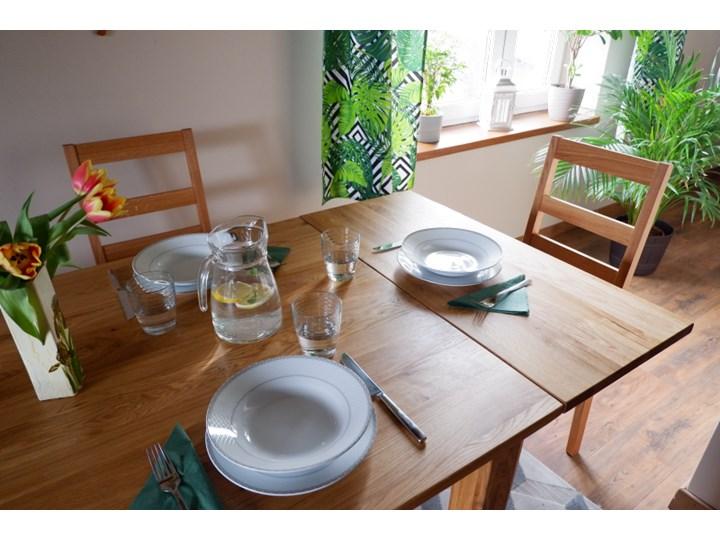 Stół dębowy Natur 160 + 2x40cm Soolido Meble Drewno Szerokość 90 cm Długość 160 cm  Kształt blatu Prostokątny Pomieszczenie Stoły do jadalni