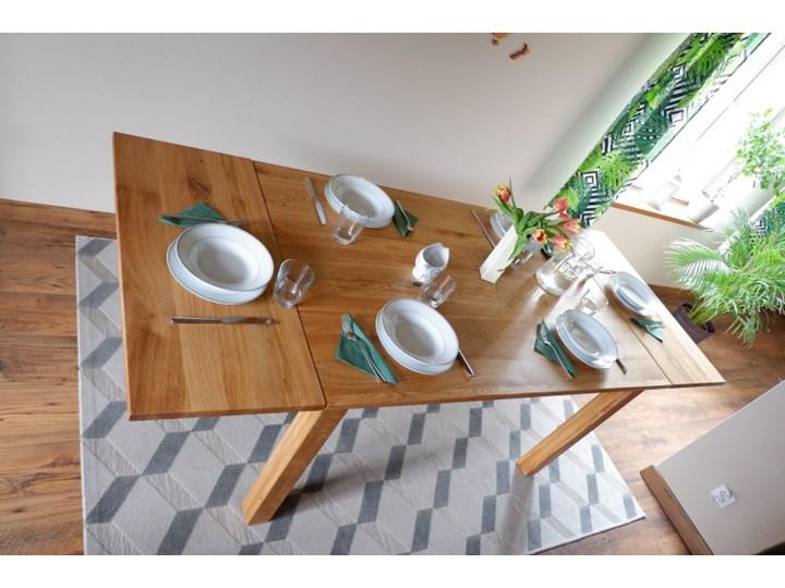 Stół dębowy Natur 160 + 2x40cm Soolido Meble Długość 160 cm  Szerokość 90 cm Kształt blatu Prostokątny Drewno Kolor Brązowy