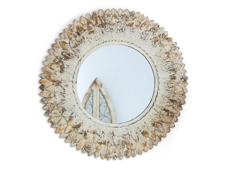 Owalne lustro w metlowej ramie Kategoria Lustra Lustro z ramą Okrągłe Ścienne Pomieszczenie Przedpokój