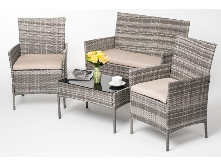 MEBLE OGRODOWE RATTAN TECHNORATTAN P50406 SZARE Kategoria Zestawy mebli ogrodowych Stoły z krzesłami Kolor Beżowy