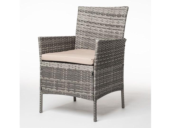 MEBLE OGRODOWE RATTAN TECHNORATTAN P50406 SZARE Stoły z krzesłami Kolor Beżowy