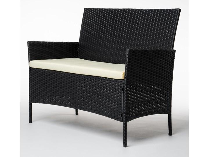MEBLE OGRODOWE RATTAN TECHNORATTAN P50406 CZARNE Stoły z krzesłami Kolor Czarny
