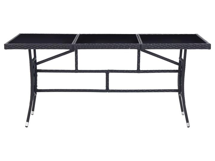 vidaXL 9-częściowy zestaw mebli ogrodowych, polirattan, czarny Technorattan Kategoria Zestawy mebli ogrodowych Stoły z krzesłami Stal Zawartość zestawu Krzesła