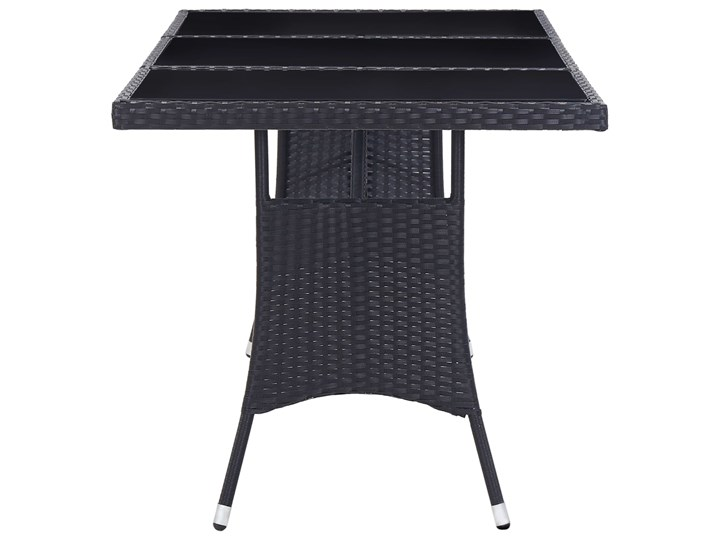 vidaXL 9-częściowy zestaw mebli ogrodowych, polirattan, czarny Stal Stoły z krzesłami Technorattan Kategoria Zestawy mebli ogrodowych Zawartość zestawu Krzesła