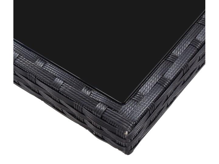 vidaXL 9-częściowy zestaw mebli ogrodowych, polirattan, czarny Stal Stoły z krzesłami Technorattan Kategoria Zestawy mebli ogrodowych