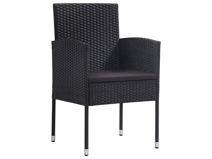 vidaXL 9-częściowy zestaw mebli ogrodowych, polirattan, czarny Technorattan Stal Stoły z krzesłami Kategoria Zestawy mebli ogrodowych Zawartość zestawu Krzesła