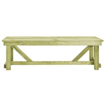 Drewniana ławka ogrodowa Beten - zielona