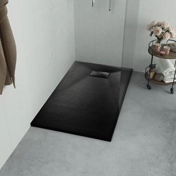 vidaXL Brodzik prysznicowy, SMC, czarny, 100 x 80 cm