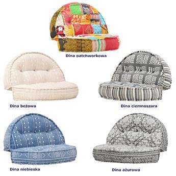 Materiałowa sofa Dina - patchwork