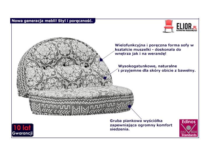 Materiałowa sofa Dina - ażurowa Głębokość 120 cm Szerokość 120 cm Modułowe Nóżki Bez nóżek