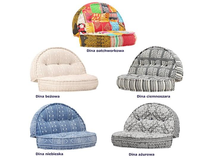 Materiałowa sofa Dina - ażurowa Głębokość 120 cm Szerokość 120 cm Modułowe Kolor Szary Nóżki Bez nóżek