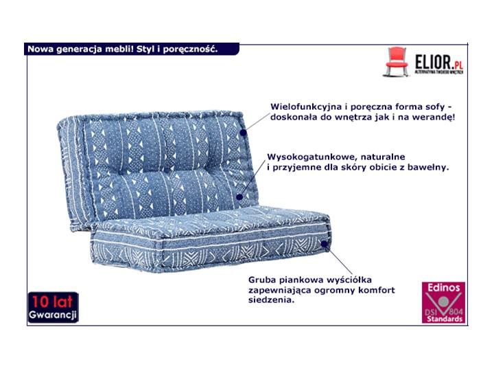 Kwadratowa piankowa sofa Gina - niebieska Kolor