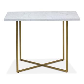Stół Hex z marmurem  80 x 80 cm czarny mat marmur - grupa I