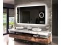 Lustro do łazienki L49 z oświetleniem LED Prostokątne Lustro podświetlane Ścienne Kolor Czarny Kolor Czarny