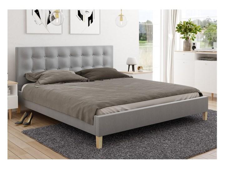 Stylowe łóżko do sypialni Dawid 160x200 ze stelażem