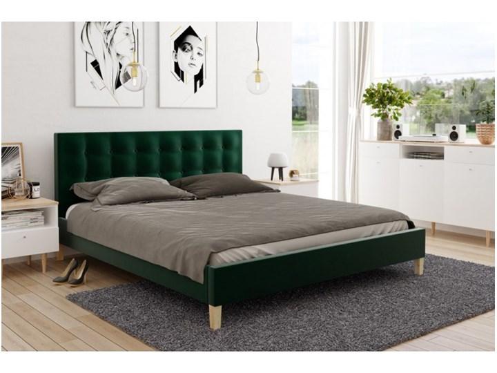Pikowane łóżko DAWID 180x200 styl skandynawski
