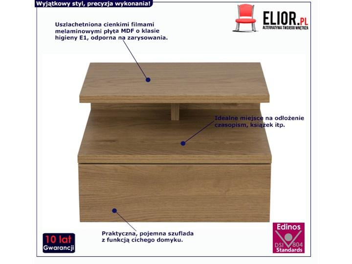 Skandynawska szafka Milda - naturalna Drewno Styl Minimalistyczny