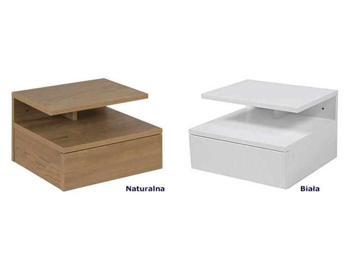 Skandynawska szafka Milda - naturalna Kolor Brązowy Drewno Styl Minimalistyczny
