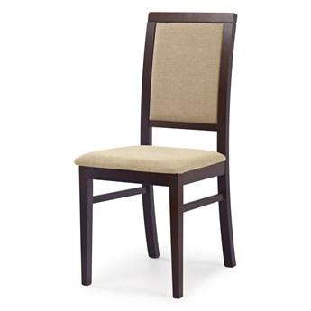 SELSEY Krzesło tapicerowane Buroli ciemny orzech