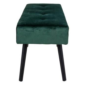 SELSEY Ławka tapicerowana Belicer 100x35 cm zielony velvet