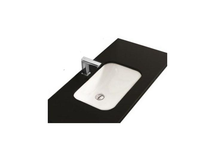 VELDMAN UMYWALKA PODBLATOWA TEXAS Prostokątne Ceramika Kategoria Umywalki Wpuszczane Szerokość 51 cm Kolor Biały