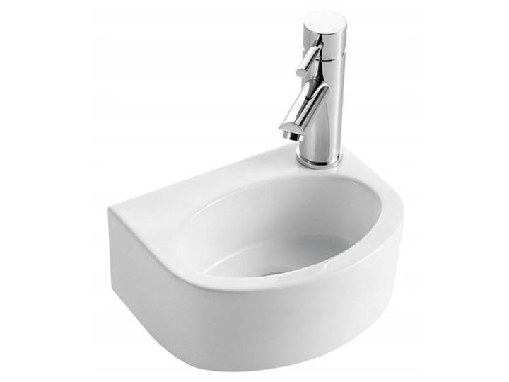 VELDMAN UMYWALKA PODWIESZANA DALIA Ceramika Półokrągłe Kategoria Umywalki Podwieszane Nablatowe Szerokość 31 cm Kolor Biały