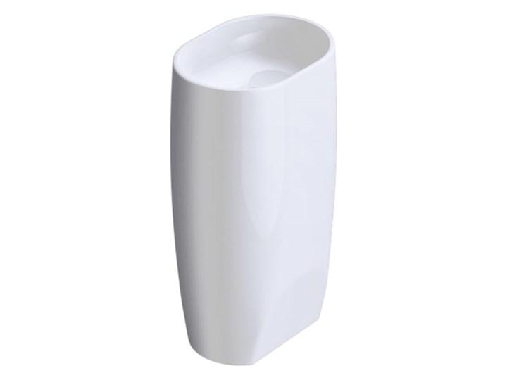 VELDMAN MONOLITYCZNA UMYWALKA LISA Kategoria Umywalki Wolnostojące Konglomerat Owalne Kolor Biały