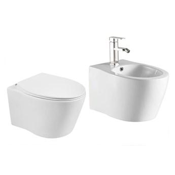 VELDMAN ZESTAW ALBA MISA WC + BIDET+ DESKA SLIM
