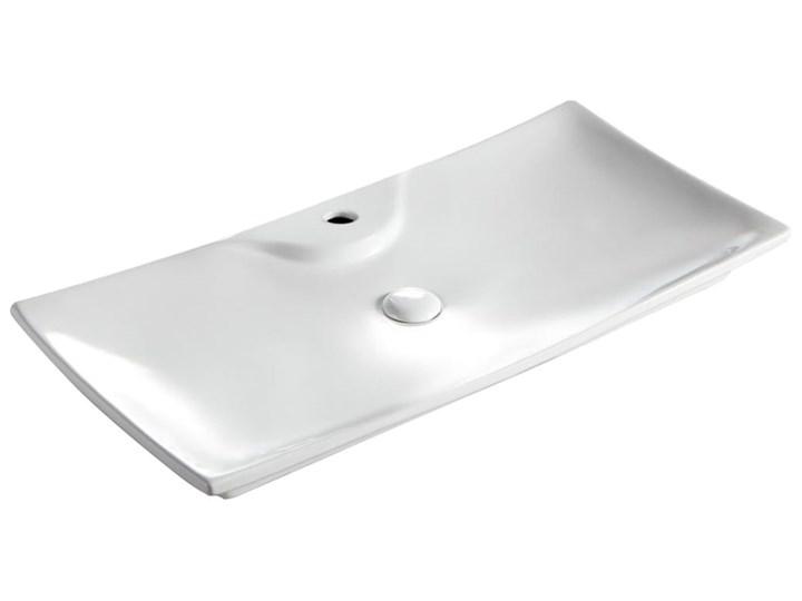 VELDMAN UMYWALKA CERAMICZNA AMADO 80cm Szerokość 80 cm Meblowe Prostokątne Ceramika Nablatowe Kategoria Umywalki