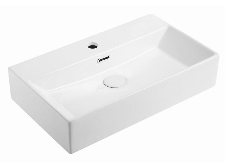 VELDMAN UMYWALKA NABLATOWA METRO Szerokość 50 cm Nablatowe Kategoria Umywalki Ceramika Prostokątne Meblowe Kolor Biały