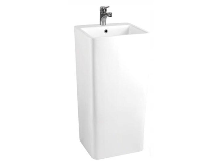 VELDMAN MONOLITYCZNA UMYWALKA WOLNOSTOJĄCA ALEXA Ceramika Wolnostojące Kategoria Umywalki Szerokość 41 cm Prostokątne Kolor Biały