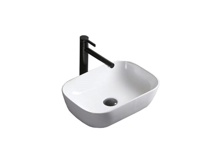 VELDMAN UMYWALKA AWA SLIM CIENKIE KRAWĘDZIE Meblowe Szerokość 46 cm Prostokątne Nablatowe Ceramika Kategoria Umywalki Kolor Biały