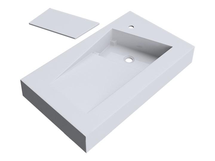 VELDMAN UMYWALKA KONGLOMERAT VINCI 80x46cm Kategoria Umywalki Prostokątne Szerokość 80 cm Nablatowe Podwieszane Kolor Biały