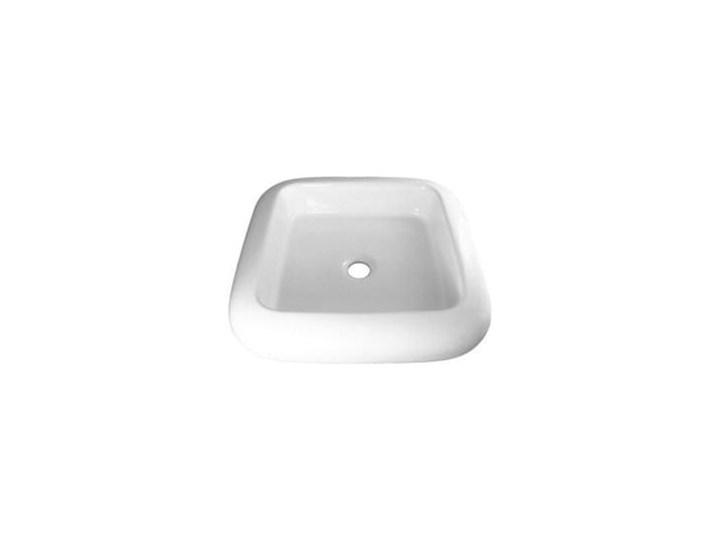 VELDMAN UMYWALKA NABLATOWA SCILLA Wolnostojące Ceramika Kategoria Umywalki Szerokość 46 cm Nablatowe Kwadratowe Meblowe Podwieszane Kolor Biały