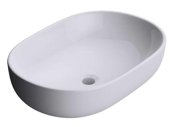 VELDMAN UMYWALKA CERAMICZNA ANNA 48X35, 59X42 Ceramika Nablatowe Meblowe Owalne Kategoria Umywalki Szerokość 48 cm Kolor Biały