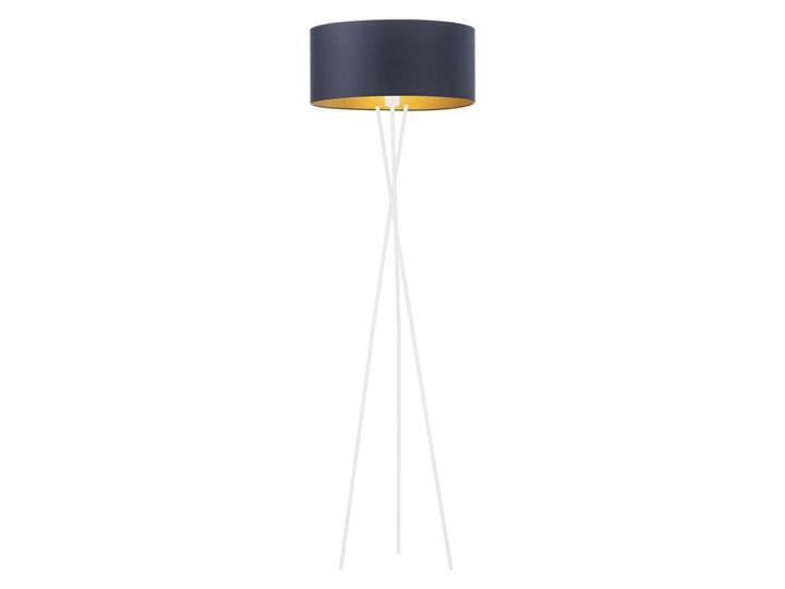 Lampa podłogowa do czytania PARYŻ GOLD Lampa z abażurem Tkanina Lampa do czytania Kolor Biały Metal Lampa LED Kolor Biały