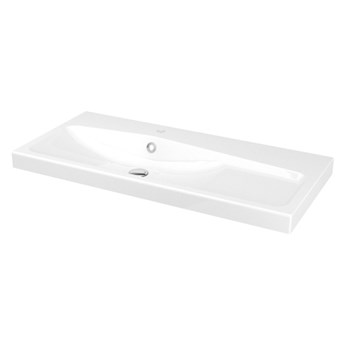 Umywalka konglomeratowa GoodHome Mila 100 cm z syfonem