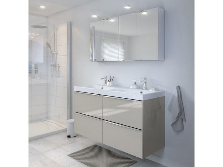 Umywalka konglomeratowa GoodHome Mila 120 cm z syfonem Kategoria Umywalki Wolnostojące Prostokątne Kolor Biały