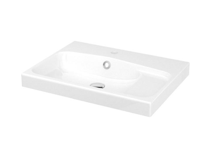 Umywalka konglomeratowa GoodHome Mila 60 cm z syfonem Prostokątne Kategoria Umywalki