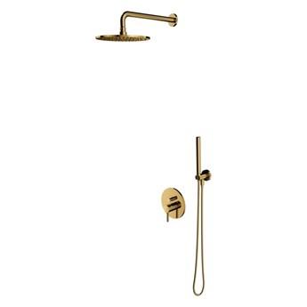 Zestaw prysznicowy podtynkowy Omnires Y złoty