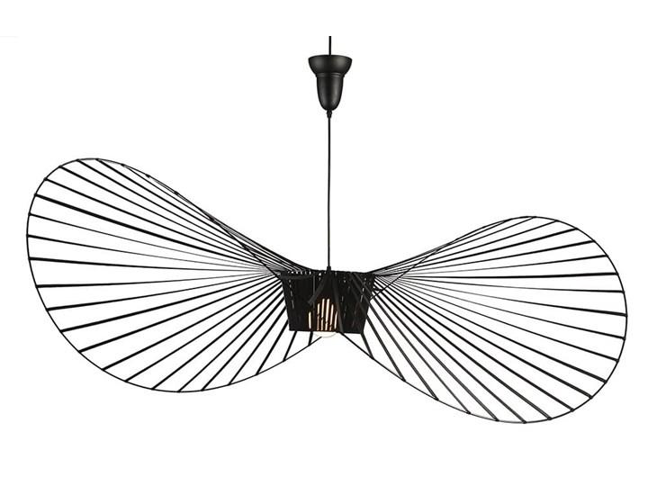 Lampa wisząca kapelusz CAPELLO L czarna Tworzywo sztuczne Lampa inspirowana Lampa z kloszem Kategoria Lampy wiszące