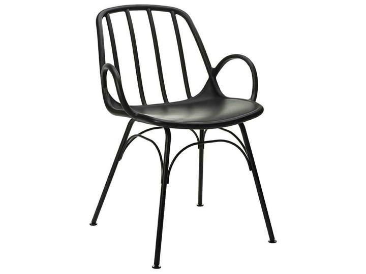 Krzesło CASTERIA czarne - polipropylen Metal Głębokość 56 cm Tworzywo sztuczne Wysokość 82 cm Szerokość 55,5 cm Styl Industrialny