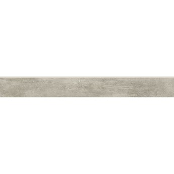 Gres szkliwiony cokół GRAVA light grey mat 7,2x59,8 gat. I